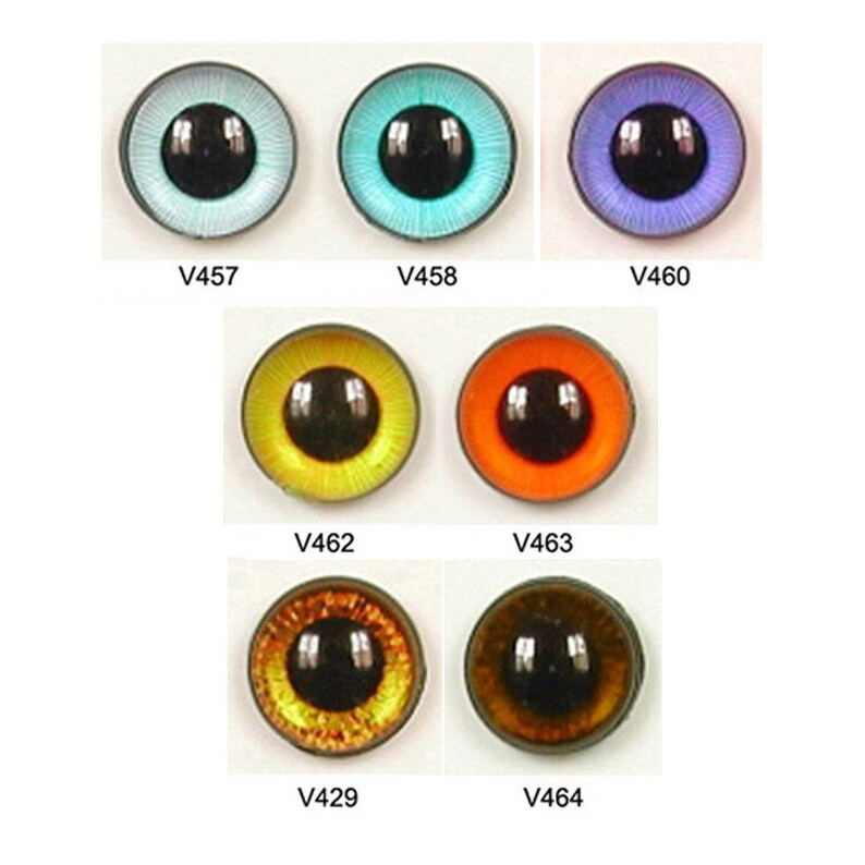 1 Pair 24mm Article V Plastic Safety Eyes w Plastic Washers Available in 7 Colours Teddy Bear Puppet Plush Toy Stuffed Animal Plushie Craft