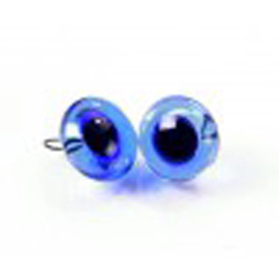 10 Glass Eyes 9 mm in black from Lauscha-Quality EYES FOR TEDDYS!