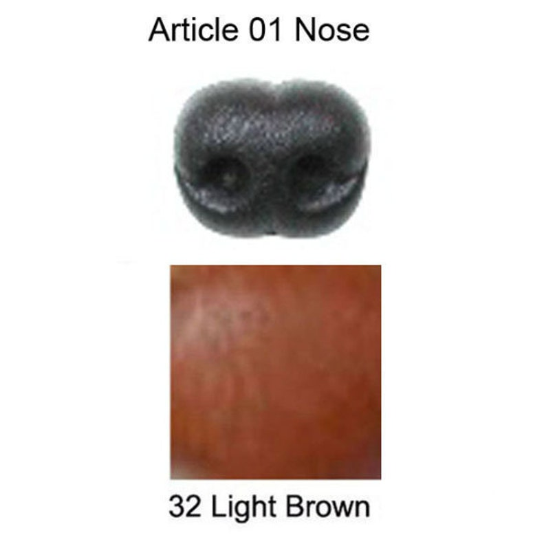 16mm Plastic Soft Nose 16mm x 13mm Article 01M Black or Light Brown Size 2 Animal Nose Teddy Bear Stuffed Animal Plush Toy