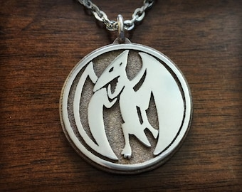 Mighty Morphin Power Rangers Pink Ranger Pterodactyl 3D Printed Stainless Steel Pendant and Keychain