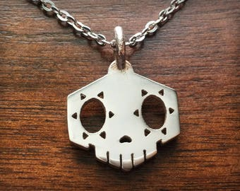 Overwatch Sombra Stainless Steel 3D Printed Pendant and Keychain
