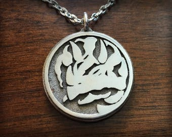 Mighty Morphin Power Rangers Blue Ranger Triceratops 3D Printed Stainless Steel Pendant and Keychain