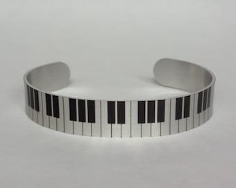 Piano Keys Cuff Bracelet