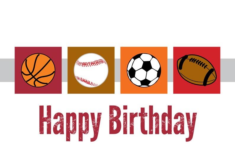 Sports Birthday Cards Set Of 12