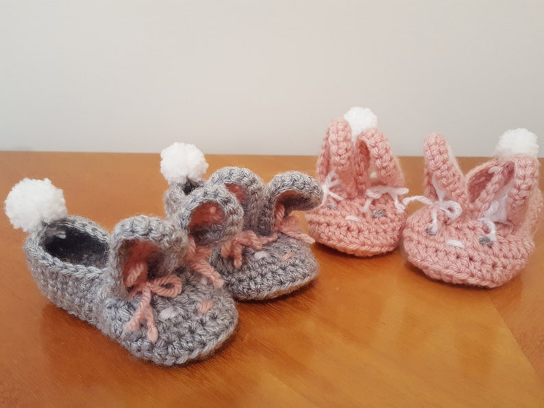 Crocheted Bunny Slippers Small