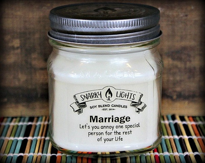 "Snarky Lights || ""Marriage lets you annoy one special person for the rest of your life"" 