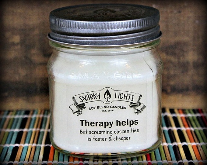 "Snarky Lights || ""Therapy helps, but screaming obscenities is faster & cheaper"" 