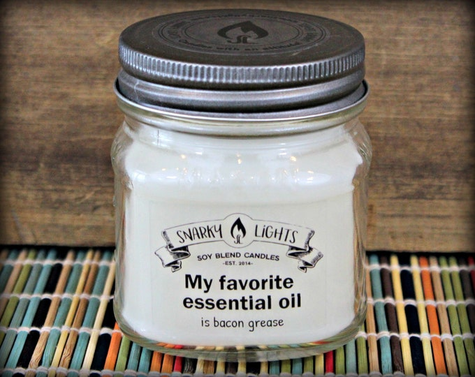 "Snarky Lights || ""My favorite essential oil is bacon grease""  