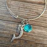 Mermaid bracelet, Ocean Bracelet, Charm Bangle, Charm bracelet,