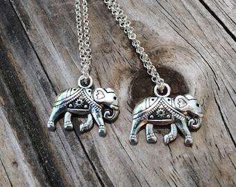 Tribal Elephant Necklace, Charm Necklace, Elephant Necklace