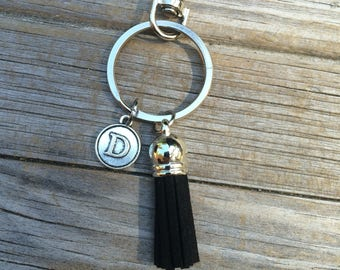 Initial Tassel Keychain, Name Keychain, Letter Keychain, Gifts for her, Gifts for Mom