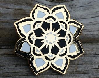 Sun Mandala Pin, Enamel Pin, Hard Enamel Pin, Brooch, Gold Pin, Lapel Pin, Mandala Pin, Stocking Stuffers, California Pin