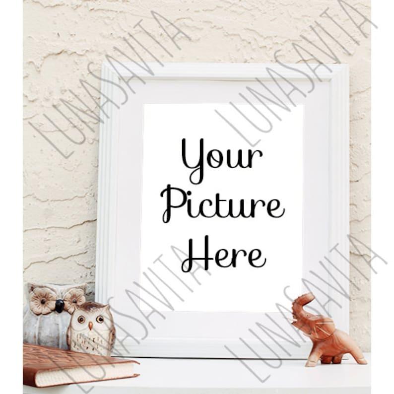 Styled Stock Photography Frame Mockup White Frame Your image 0