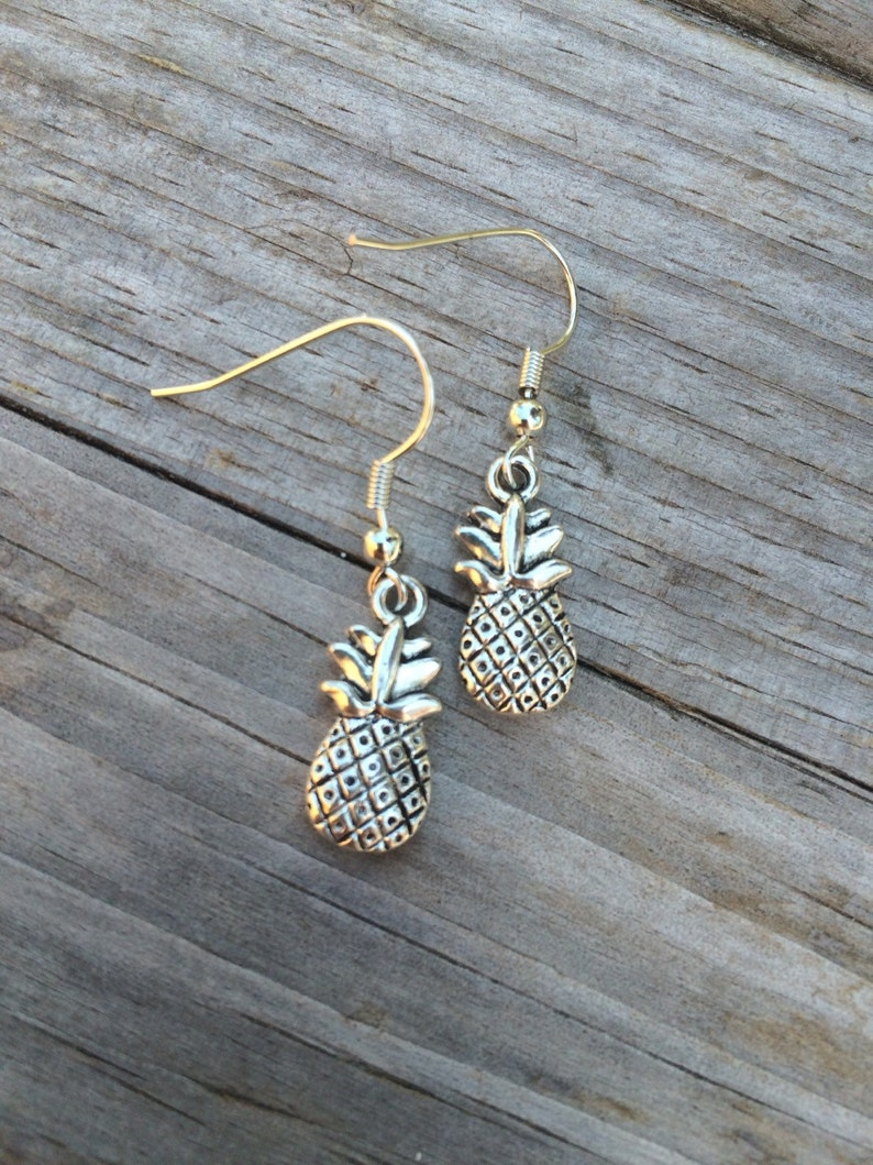 Simple Pineapple Earrings Pineapple Earrings Hawaiin image 0