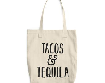 Tacos and Tequila Tote Bag, Bag, Purse, Totes, Quote Tote, Funny bag, Funny Quote, Funny tote bag, Taco Love, Taco Quote, Gifts for her
