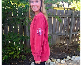 Shoulder Monogrammed Comfort Colors Sweatshirt