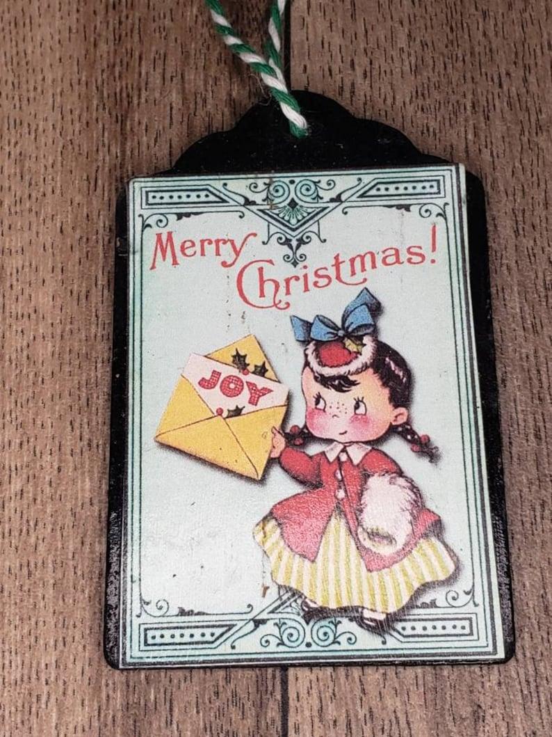 Retro christmas style ornaments Holiday decor set of 3