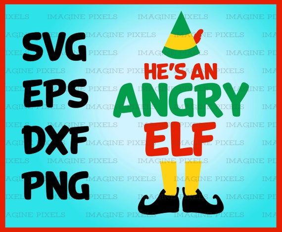 Buddy The Elf Movie Quote He S An Angry Elf Christmas Card Etsy