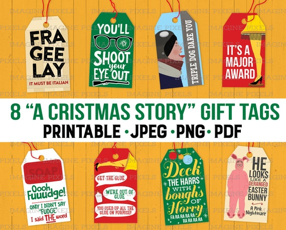 A Gift For Christmas Story.A Christmas Story Movie Quotes Gift Hang Tags Christmas Holiday Printable For Presents Png Pdf Jpeg Download Files Ralphie A Major Award