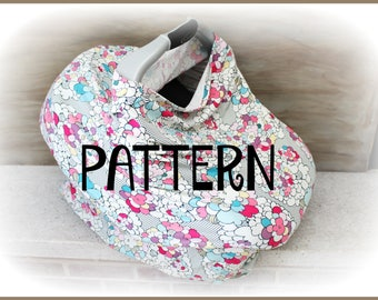 Pattern - Tutorial - Stretch Carseat Canopy - Carseat Cover - Jersey Knit - DIY - INSTANT DOWNLOAD