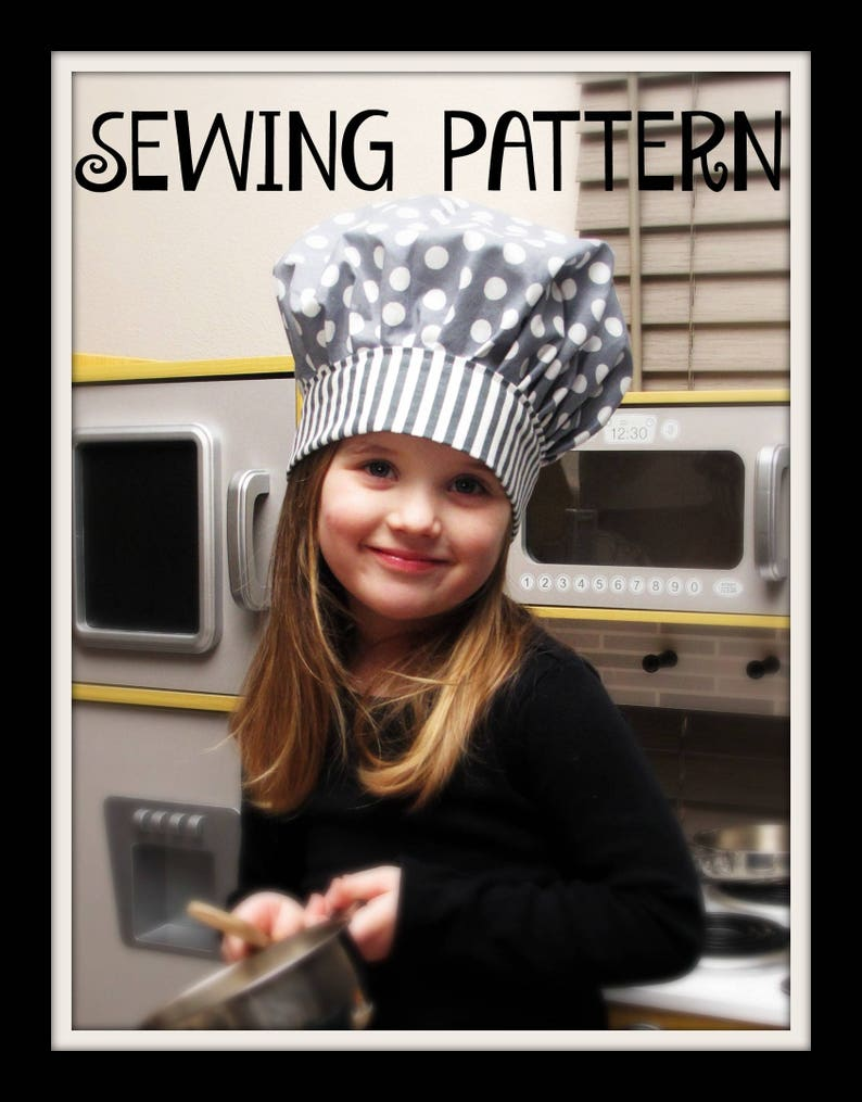 Youth Sewing Pattern Toddler/'s Apron /& Baker/'s Hat Chef/'s Hat Tutorial