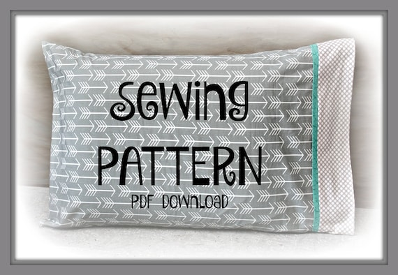 Sewing Pdf Tutorial Burrito Pillowcase Two Sizes Included Etsy