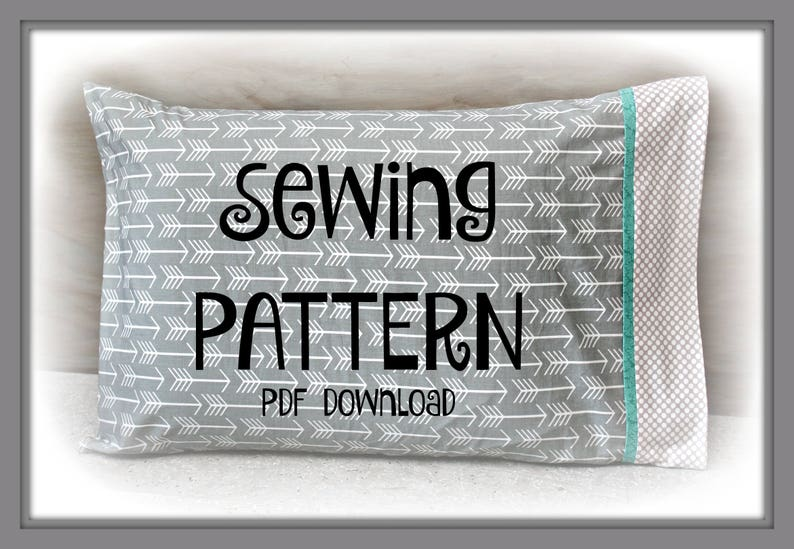 Sewing PDF Tutorial Burrito Pillowcase  Two sizes included  image 0
