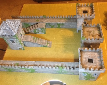 Castle / Fortification (for D&D, Dungeons and Dragons, WarHammer Fantasy, 28mm, no assembly required