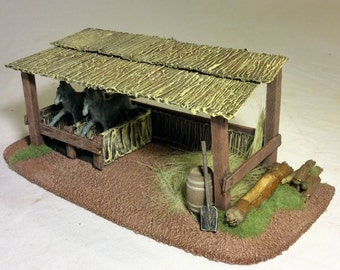 Horse Stable 28mm
