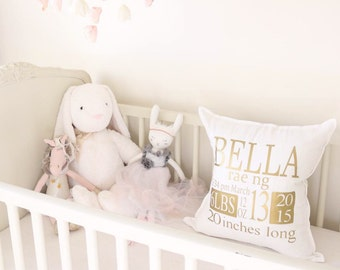 Birth Annoucment pillow