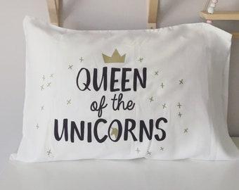 Girly pillow case, unicorn pillow
