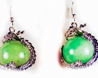 AVENTURINE EARRINGS, aventurine jewelry, aventurine, green aventurine, green earrings, green jewelry, gift for mom, Mothers Day - 1830G