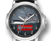 Bismarck German Battleship Schlachtschiff Ww 2 Mens Wrist Watch Gift Engraved