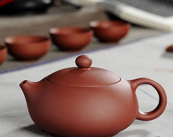 Chinese Yixing Purple Clay Handmade Kungfu Tea Pot Zisha Zi Ni Teapot 200cc