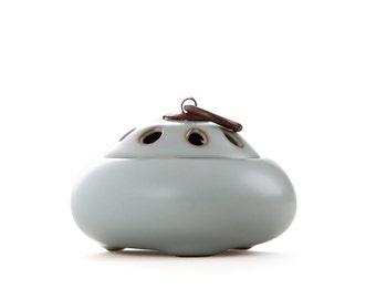 Three Pillar Handcrafted Ceramic Incense Burner/holder, Chinese traditional incense culture