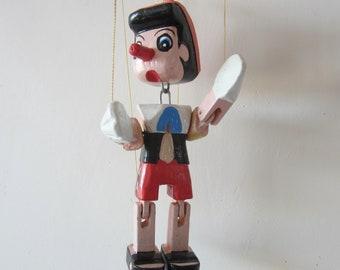Vintage Wooden Pinocchio Puppet
