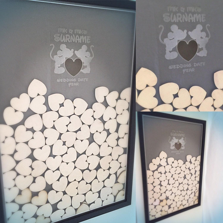 Disney Themen Mickey und Minnie Herz Hochzeit Gast Rahmen | Etsy