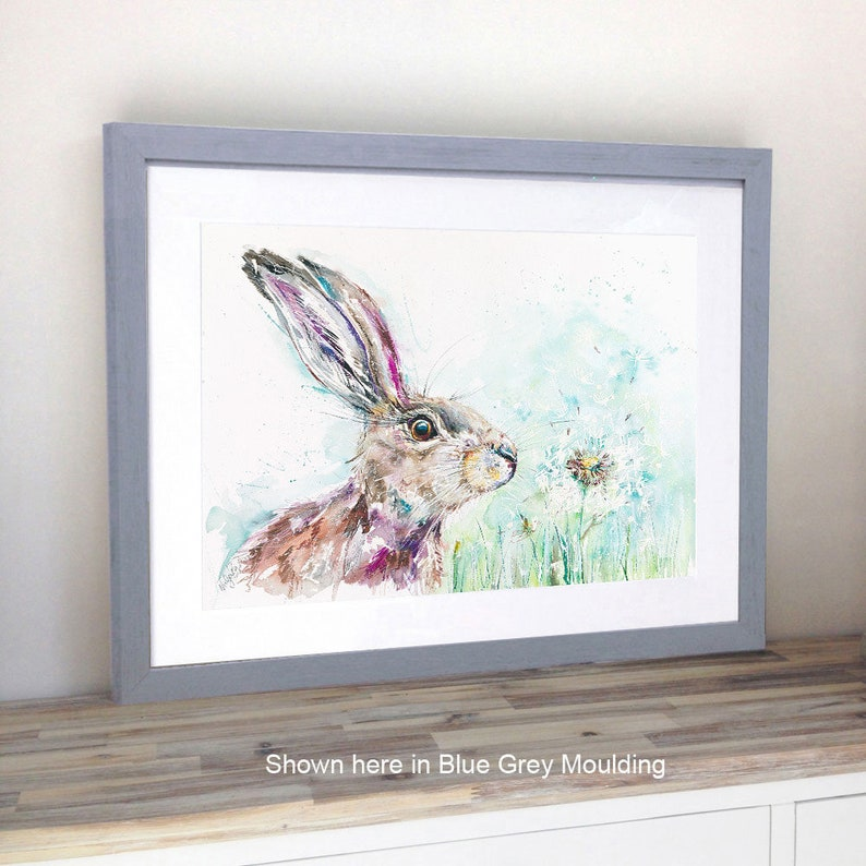 Wild Rabbits hares Highly Collectable A4 Giclee Art Print Watercolour Hare