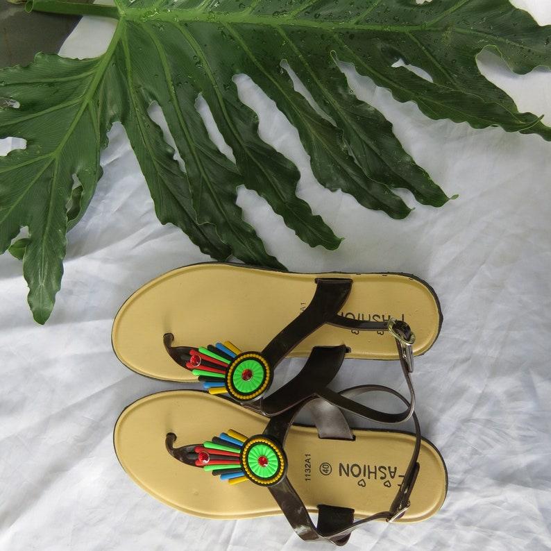 Brown Sandals Flat Summer Style SaleWomen's Bohemia 7fb6gyY