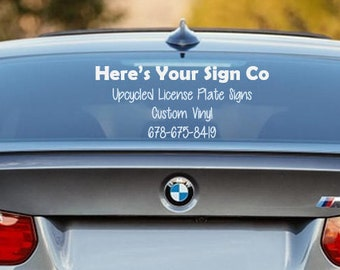 Custom Vinyl Decal   Up to 20 Characters   Custom Lettering   Cars   Signs   Outdoor Lettering   Personalized Vinyl Decal