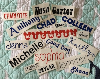 SINGLE Name Vinyl Decal up to 10 characters   Name Sticker   Tumbler/Mug/Cup Vinyl Sticker   Custom Vinyl Decal   Personalized Vinyl Decal