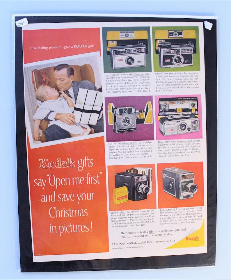 Vintage 1963 Kodak Cameras Film Ad, Life Magazine 12/20/1963