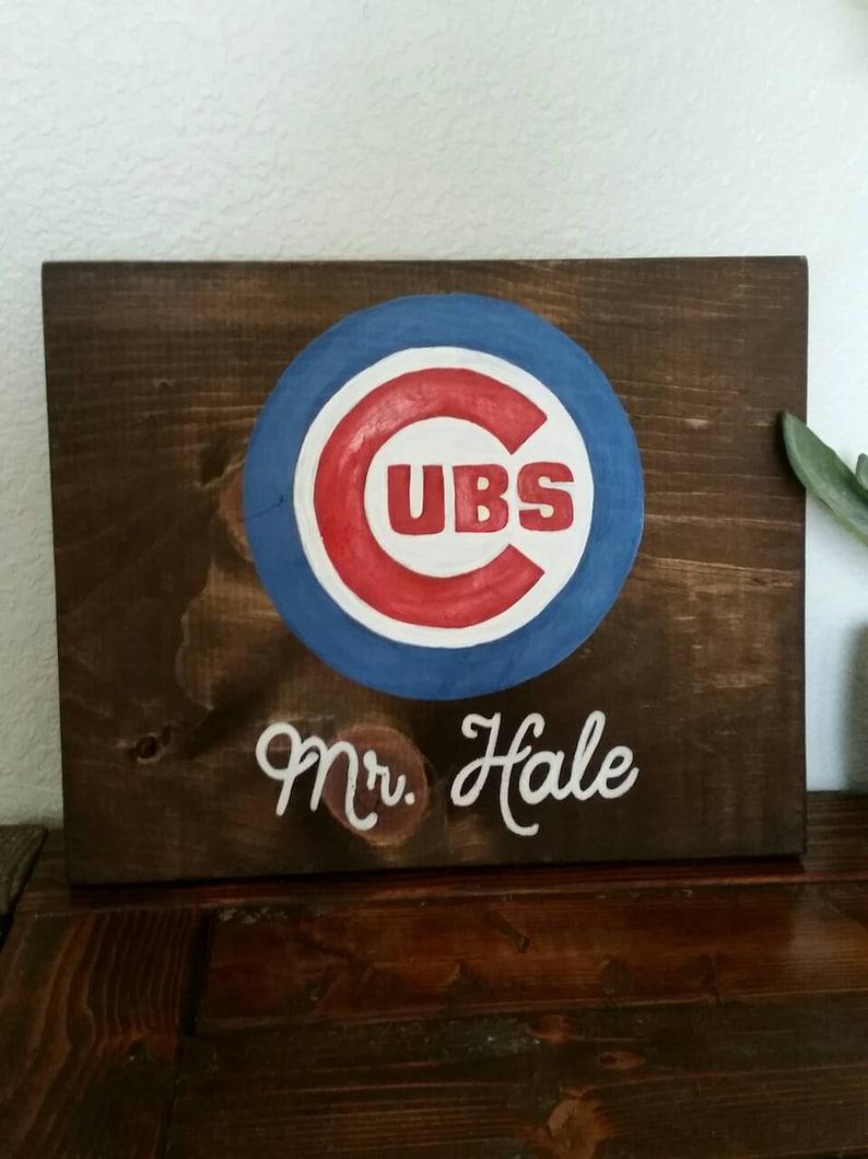 Cubs Wood Sign Chicago Cubs Cubs Wall Art Cubs World Series Custom Cubs Art Personalized Cubs Art