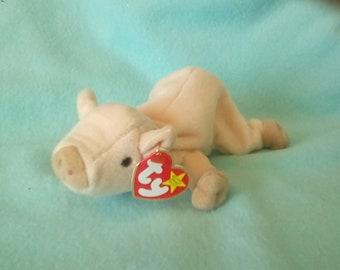 TY beanie baby KNUCKLES pig