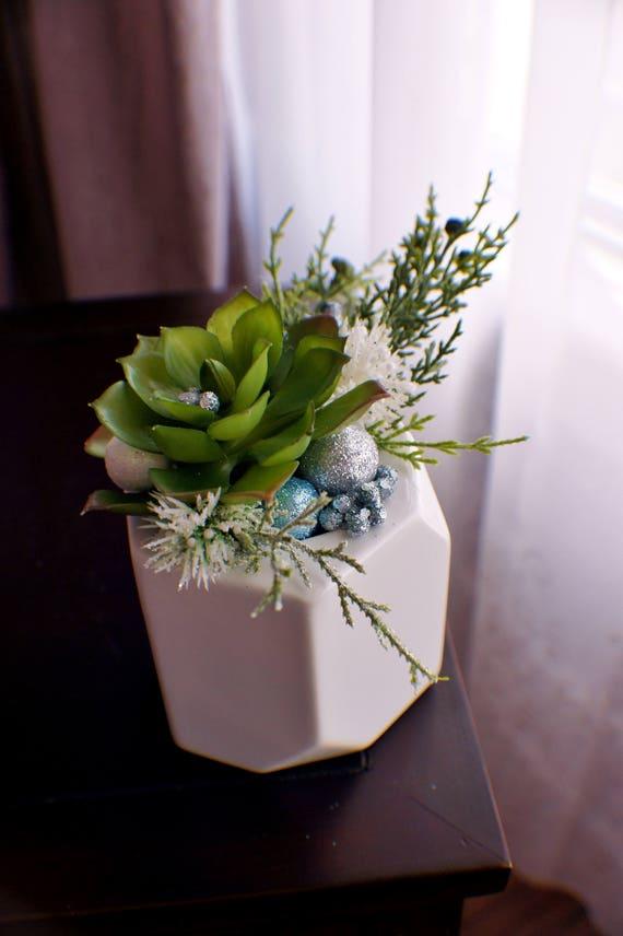 Saftiges Blumenschmuck Seide-Blumen-Arrangement | Etsy