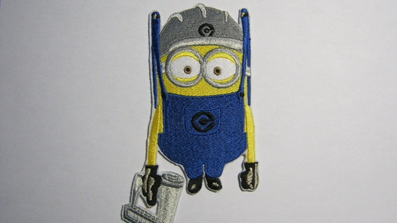 Despicable Me Minion Construction Worker With Nail Gun Etsy