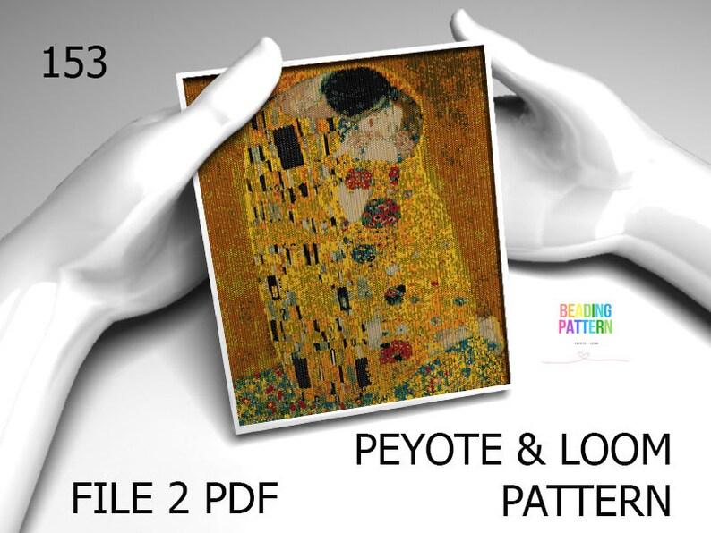 153, Gustav Klimt, Klimt loom, Klimt peyote, large pattern, beading  pattern, pattern tapestry, even peyote, seed bead pattern, Klimt pattern