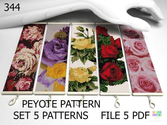 big set peyote pattern 341 Dog beads patterns peyote Bookmarks beading or bracelets tutorials