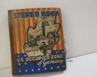 Circa 1946 to 1953 Stereo Book of US Occupied Zone.