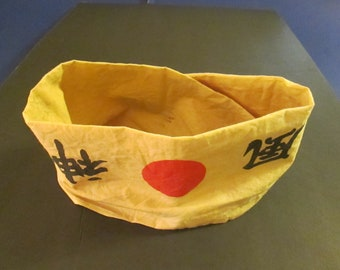 1940's WWII era Japanese Patriotic headband worn by either a Soldier or civilian factory worker. 20% off now 224. was 280.